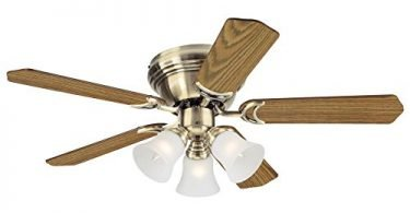 Westinghouse 7215700 Contempra Trio Antique Brass Indoor Ceiling Fan
