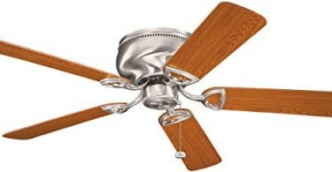 Kichler 339022BSS Stratmoor 52IN 5-Blade Flush Mount Ceiling Fan