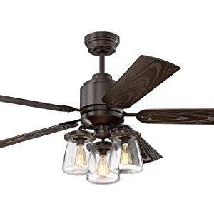 Litex COS52OSB5CR Andrus 52-inch Indoor-Outdoor Ceiling Fan