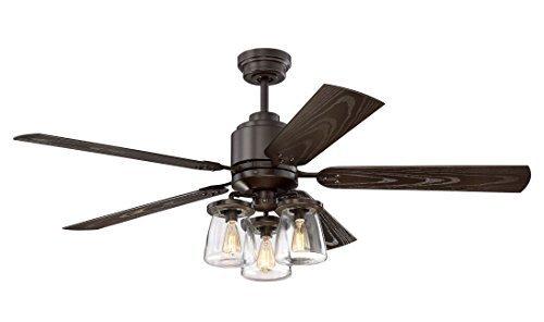 Litex Cos52osb5cr Andrus 52 Inch Indoor Outdoor Ceiling Fan