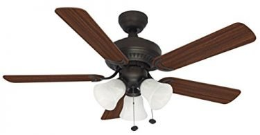 Litex E-BLR44ABZ5C Balmoral Collection 44-Inch Ceiling Fan