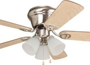 Ellington WC42BNK5C3F Wyman Brushed Nickel Flush Mount Ceiling Fan