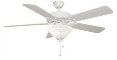 Ellington Fans BLD52MWW5C1 Builder Deluxe 52 inch Ceiling Fan