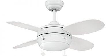 Litex E-MLV36MWW4LK1 Maksim Collection 36-Inch Ceiling Fan