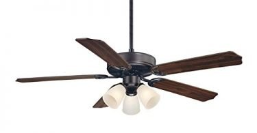 Savoy House 52-EUP-5RV-13WG Ceiling Fan with White Marble Shades