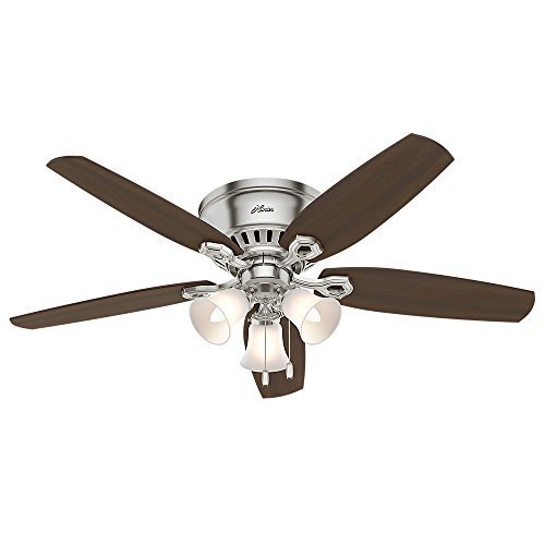 Hunter 53328 52-inch Builder Low Profile Ceiling Fan with Light