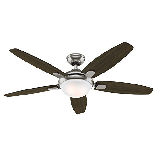 Hunter 54 inch contemporary ceiling fan with energy efficient led light aloadofball Choice Image