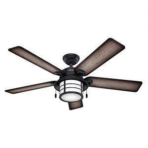 Hunter 59135 Key Biscayne 54-inch Weathered Zinc Ceiling Fan