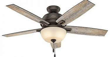 Hunter 53333 52-inch Donegan Onyx Bengal Ceiling Fan with Light