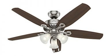 Hunter 53237 Builder Plus 52-Inch Ceiling Fan Brushed Nickel