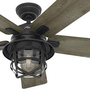 Hunter 54-inch Weathered Zinc Outdoor Ceiling Fan