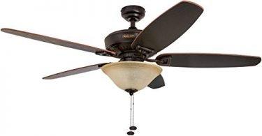 Honeywell Belmar 52-Inch Ceiling Fan with Sunset Glass Light Kit