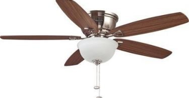 Honeywell 52 inch Eastover Brushed Nickel Ceiling Fan