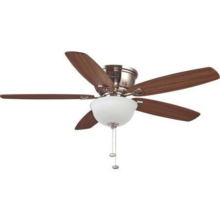 52 inch eastover brushed nickel ceiling fan honeywell 52 inch eastover brushed nickel ceiling fan aloadofball Images
