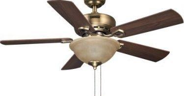 Honeywell 44 inch Blaise Antique Brass Ceiling Fan