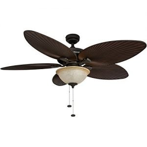 Honeywell Palm Island 52-Inch Tropical Fan with Sunset Glass-Bowl Light