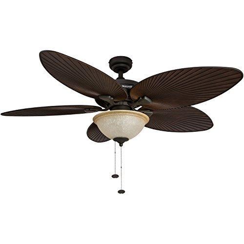 Honeywell Palm Island 52-Inch Tropical Fan with Sunset Glass-Bowl Light