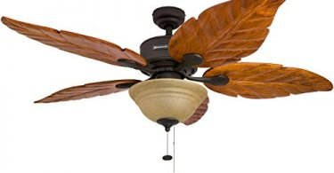 Honeywell Sabal Palm 52-Inch Tropical Ceiling Fan with Sunset Bowl