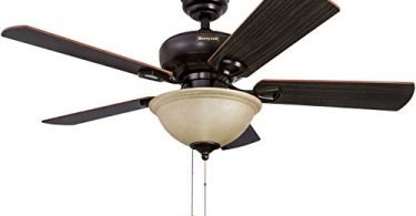 Honeywell Woodcrest 44-Inch Ceiling Fan with Sunset Bowl Light