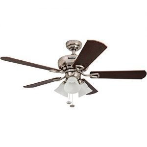 Honeywell Springhill 44-Inch Ceiling Fan with Swirled White Light Shades