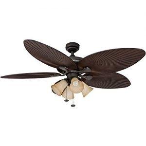 Honeywell Palm Island 52-Inch Tropical Fan with 4 Sunset Shade-Lights