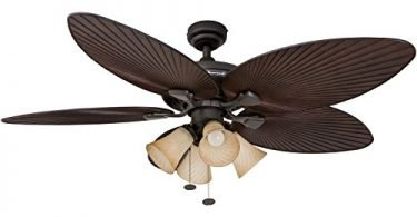 Honeywell Palm Island 52-Inch Tropical Fan with 4 Sunset Shade-Lights