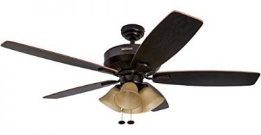 Honeywell Birnham 52-Inch Ceiling Fan with Tuscan Sand Light Shades