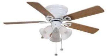 Hampton Bay Clarkston 44 in. White Ceiling Fan