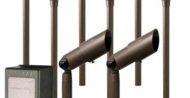 Hampton Bay Low Voltage Aged Brass Halogen 6 Path Light and 2 Spot Light Kit