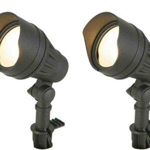 Hampton Bay Low-Voltage LED Black Outdoor Flood Light