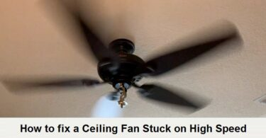 ceiling fan stuck on high speed