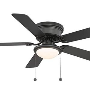 Hugger 52 Inch LED Indoor Black Ceiling Fan
