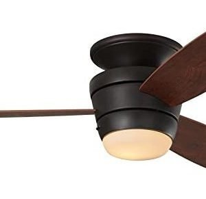 Mazon 44-in Oil-Rubbed bronze Integrated LED Flush Mount Ceiling Fan