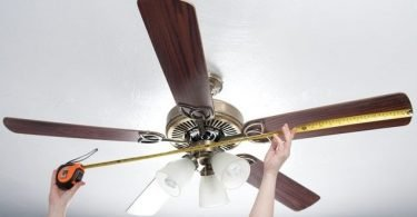 how to measure ceiling fan size