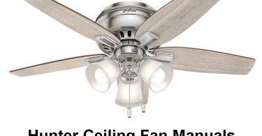 hunter ceiling fan manuals