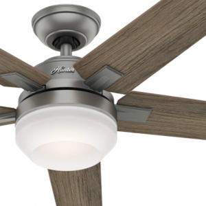 Hunter Fan 54 inch Contemporary Matte Silver Indoor Ceiling Fan