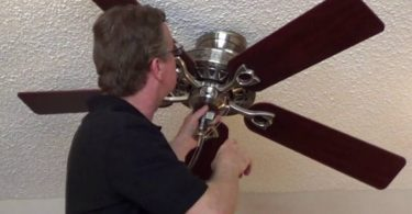 how to remove a flush mount ceiling fan