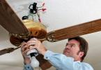 how to take down a ceiling fan