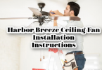 harbor breeze ceiling fan installation