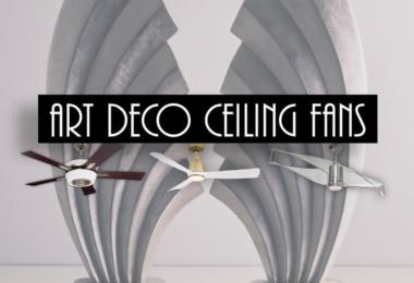 art deco ceiling fans